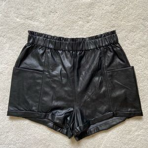 Aritzia Faux Leather Shorts